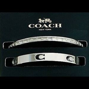 NWT Coach Cut Out C Bangle Set Silver Bracelets